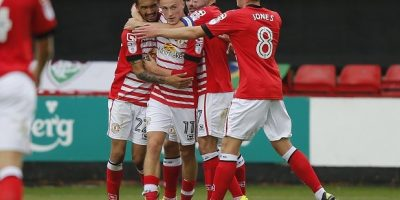"""Goal celebration by Crewe Alexandra's Alex Kiwomya - Photo mandatory by-line: Steve Bond/Pinnacle - Tel: +44(0)1363 881025 - Mobile:0797 1270 681 - VAT Reg No: 183700120 - 10/09/2016 - SPORT - FOOTBALL - SkyBet Division 2 - Crewe Alexandra v Exeter City - Gresty Road, Crewe Restrictions: EDITORIAL USE ONLY. No use with unauthorized audio, video,  data, fixture lists, club/league logos or """"live"""" services. Online in-match use limited to 45 images, no video emulation. No use in betting, games or single club/league/player publications"""